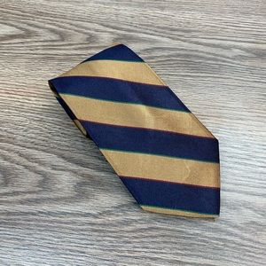Brooks Brothers Tan & Navy Stripe Tie